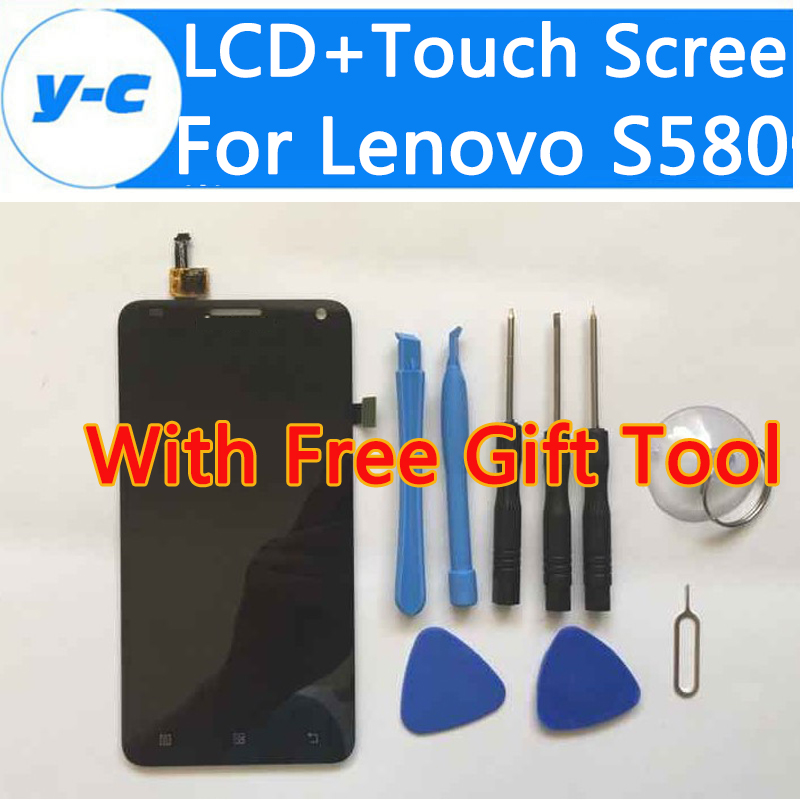 For Lenovo S580 LCD+Touch Display Screen High Quality Digitizer Screen Panel Assembly Replacement For Lenovo S580 high quality 5 0 for lenovo s580 full