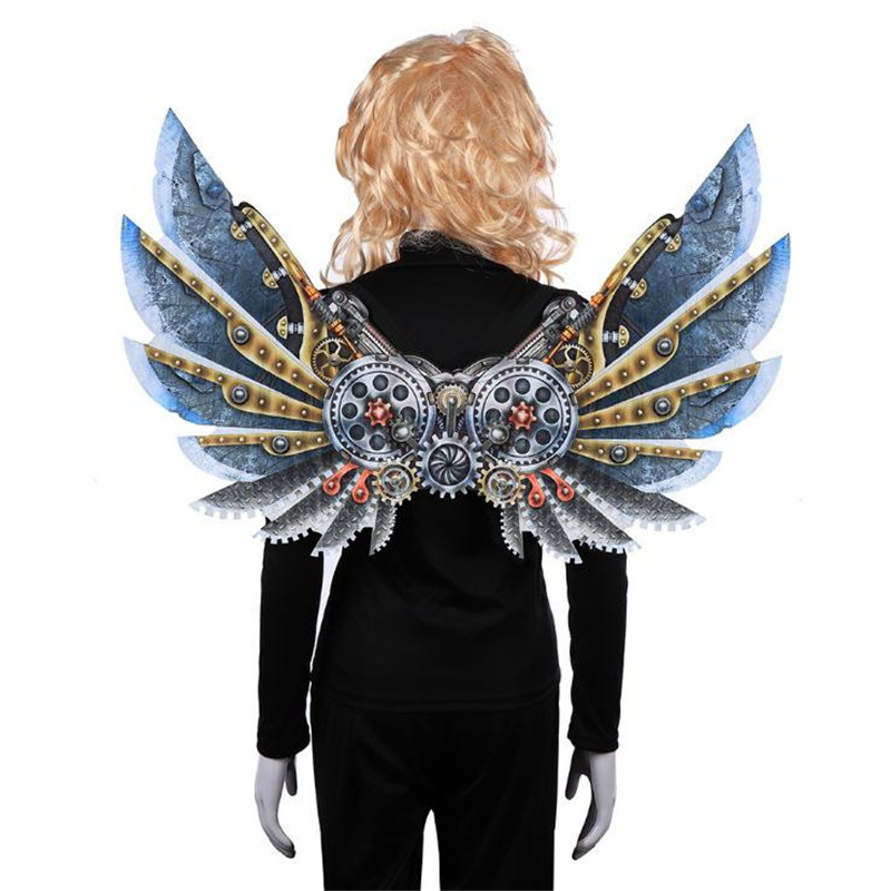 Hot Sale Anime Punk Machinery Blade Wing Prop Cosplay Dress up Halloween Carnival Christmas Party Costume For Kids Adult Unisex