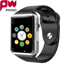 PINWEI Touch Screen Bluetooth Watch SmartWatch Smart Watch Clock With Sim Card Slot Waterproof Sport Watch for Android Phone