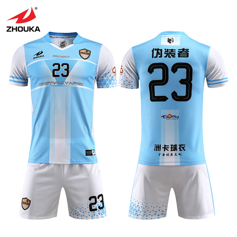 Sublimation Football Suits High Quality Fashion Football Shirt Set Soccer  Jersey e379acc23