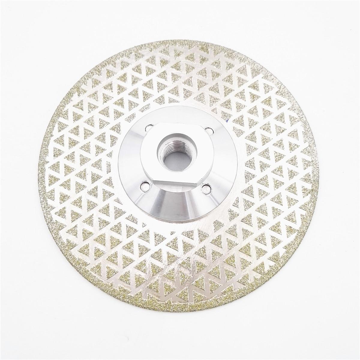 DIATOOL 125mm Électrolytique Diamant De Coupe Et De Meulage Disque Pour Granit et Marbre Avec Rectification Double Côtés