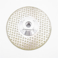 1pc 125mm Electroplated Diamond Cutting And Grinding Disc For Granite Marble With Double Grinding Sides