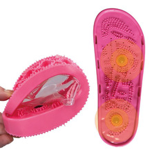 Reflexology Foot Massage Slippers Detox Magnets Relax Bath Non-slip Acupressure Summer Anti-Cellulite Massager