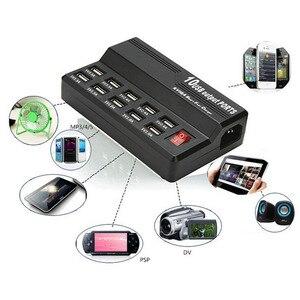 Image 2 - Зарядное устройство с несколькими портами 10 USB, 12 А, мощность 60 Вт, быстрая зарядная станция для iPhone 7, 5, 5S 6, 6S Plus, iPad, LG, Samsung, Huawei, Nexus, адаптер переменного тока