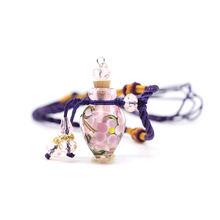 Модные женские капли воды стеклянный цветок парфюм бутылочка