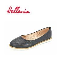 Hellenia Women Shoes Flat New Fashion Shoes Black Women Rounded Toe Shoe Summer Aumtun