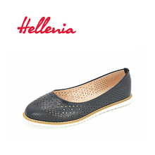 Hellenia Women Shoes Flat New fashion black Rounded Toe Shoe Summer Aumtun