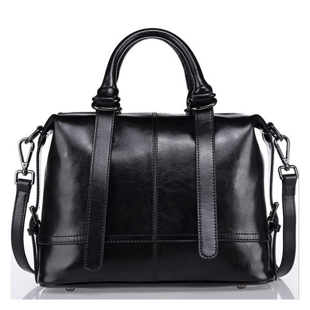 2017 Top Genuine Leather Handbag Women Messenger Bags Soft Cowhide Lady Tote Fashion Designer Purple one Shoulder Crossbody Bag