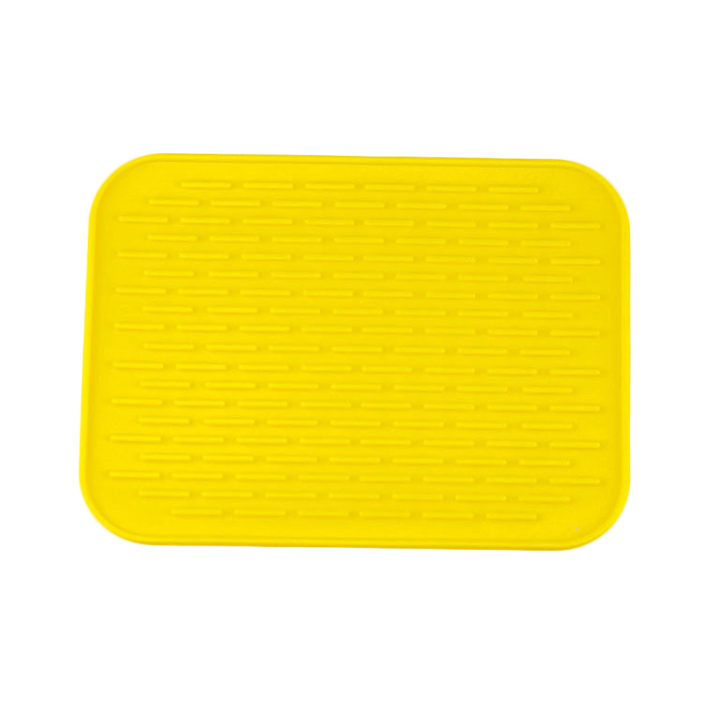 1pc 21.5cmx15.5cm Silicone Pad Rectangular Silicone Heat Insulation Dinner Table Mat Cup Mug Dish Coaster 2 Colors Placemat