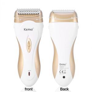Image 2 - آلة إزالة الشعر الكهربائية 220 فولت من كيمي آلة إزالة الشعر آلة إزالة الشعر بدون ألم ماكينة الحلاقة الكهربائية EU Plug