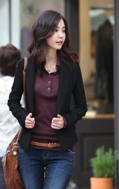 Black blazer Ladies Work Wear Coat jacket 3