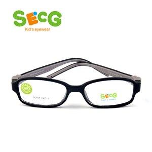 Image 4 - SECG TR90 Ультралегкая мягкая гибкая безопасная детская рамка Lunettes De Vue Enfan Рамка для близорукости для мальчиков и девочек унисекс резиновая лента