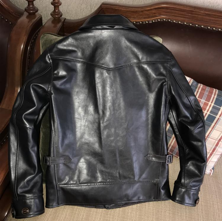 HTB1eegin1GSBuNjSspbq6AiipXac Free shipping.Brand Cossack horsehide coat,man 100% genuine leather Jackets,fashion men's slim japan style leather jacket,