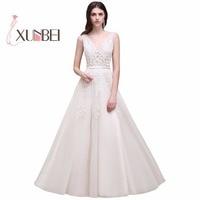 Vestido De Novia A Line Simple Beach Tulle Wedding Dresses 2017 Lace Appliques Cheap Boho Wedding