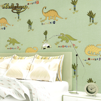 beibehang wall paper. papel de parede 3d Cartoon Dinosaurs environmental non woven wallpaper boys and girls room bedroom