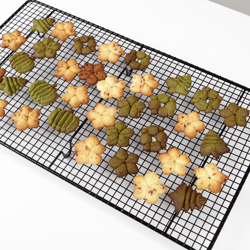 Cake cooling rack biscuits drying rack bread buckle net encryption long design 46*26cm