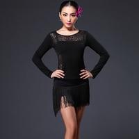 latin dance costume latin competition top and tassel dress suit design latin dress