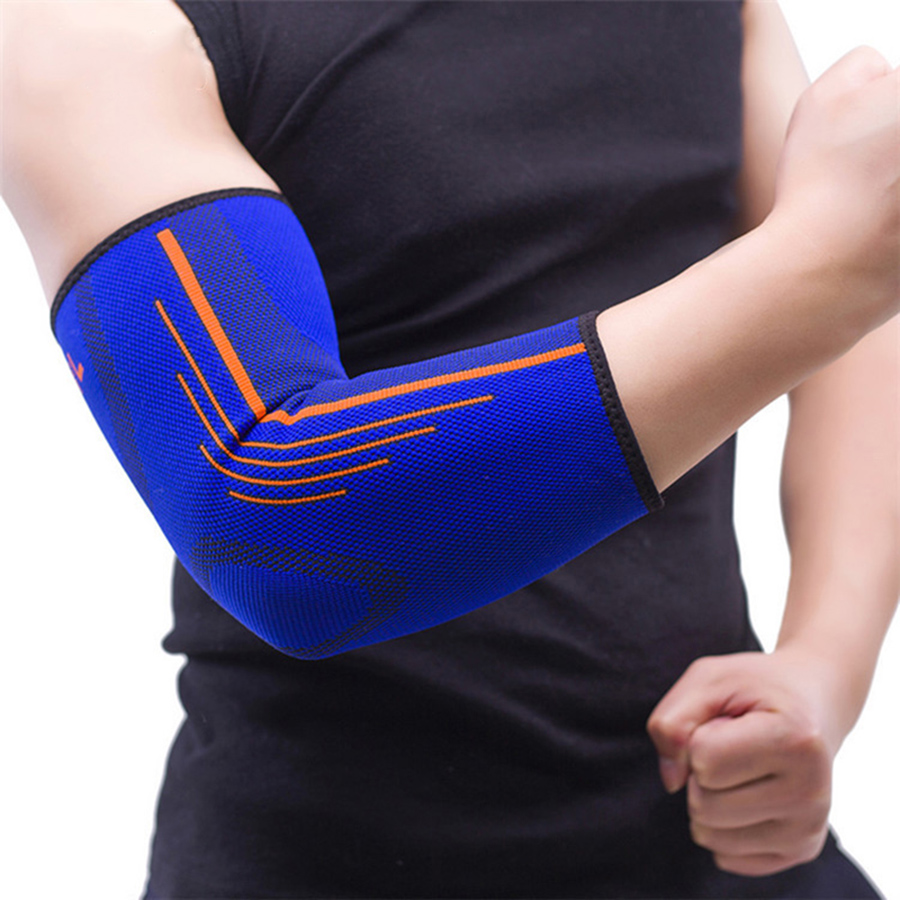 Sportsäkerhet Nylon Elastisk Armbåge Brace Sleeve Elbow Pads för Volleyboll Tennis Elbow Support Absorber Sweat Armbågsskydd