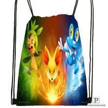 Custom Cartoon-Pokemon-Cute Drawstring Backpack Bag Cute Daypack Kids Satchel (Black Back) 31x40cm#180611-01-24