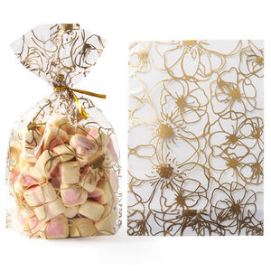 Image 5 - 50Pcs Plume Plastic Bag Easter Birthday Party Candy And Sweets Gift Bags Natal Present Anniversaire Gift Wrapping
