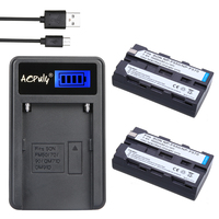 2Pcs 3000mAh NP F550 NP F550 NPF550 Rechargeable Li Ion Batteries LCD USB Charger For Sony