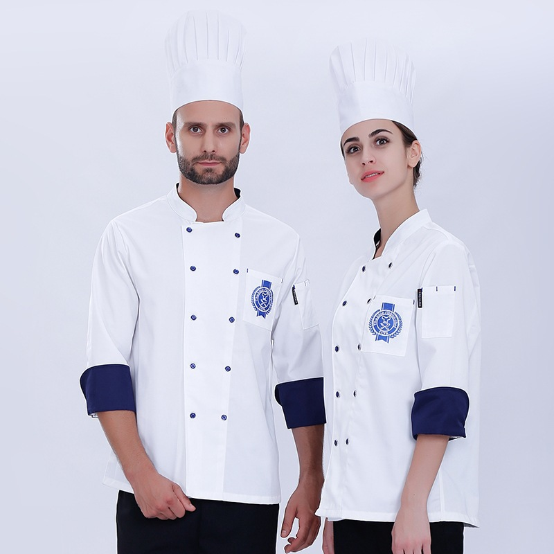 Chef Clothes Long Sleeve Work Costumes Hotel Restaurant Overalls Male Female Plus Size Kitchen Cook Uniform Unisex Jacket H2003