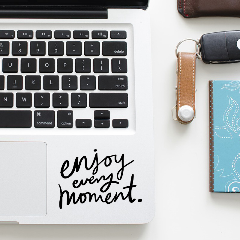 Enjoy Life Trackpad Quote Sticker Laptop Decal for font b Apple b font font b Macbook