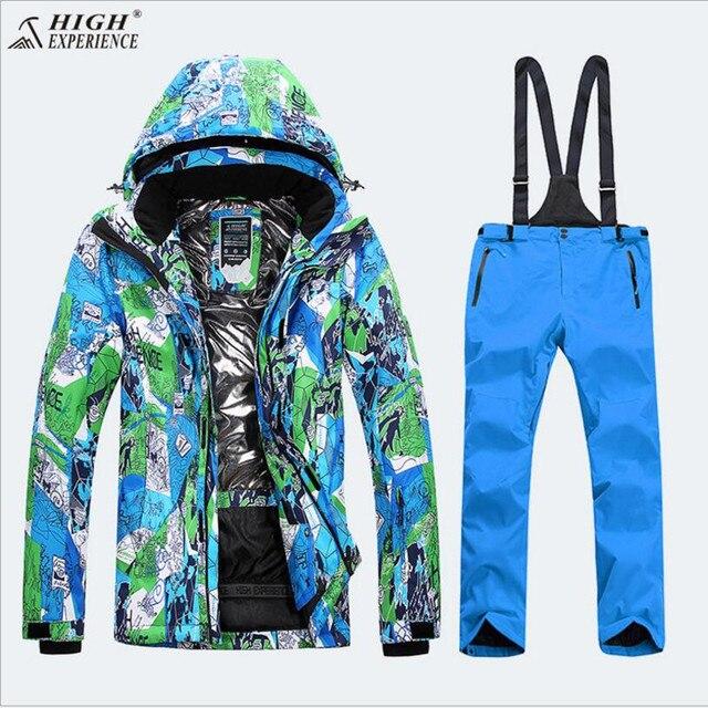 Для мужчин лыжный костюм Термальность Костюмы Водонепроницаемый  ветрозащитная спортивная одежда Лыжный Спорт для верховой езды сноуборд 97a73f16baa