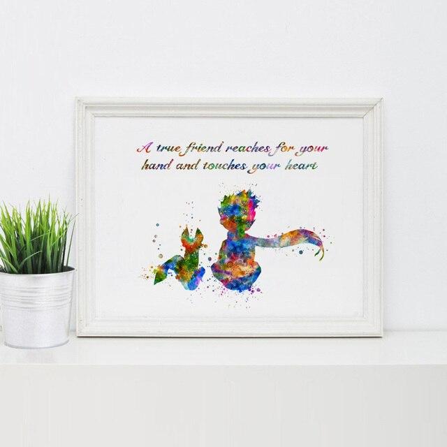 Mały Książę Z Fox Dzieci Sypialnia Decor Cytaty Reprodukcja Sztuki