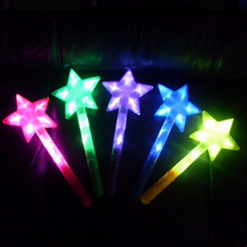 led magic star glow stick pentacle flashing lights up glow fun toys for party ceremony halloween - Glow Sticks For Halloween