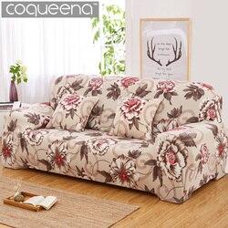 Padrão floral elástico estiramento universal capas de sofá secional lance canto capa casos para móveis poltronas decoração para casa