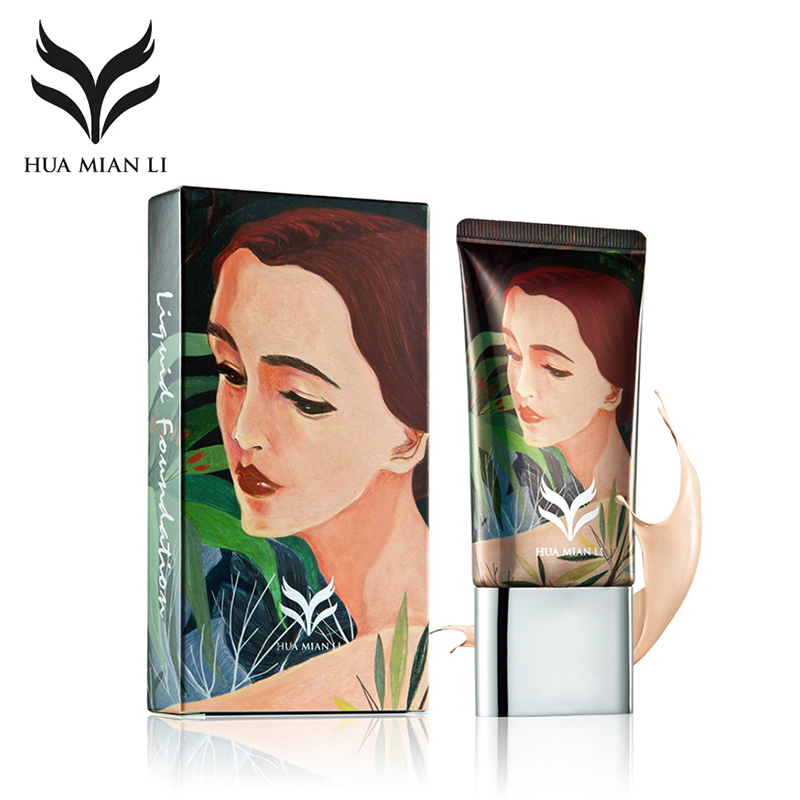 HUAMIANLI Brand Liquid Foundation Makeup Moisturizer Flawless Face Base BB CC Cream Long Lasting Primer Concealer