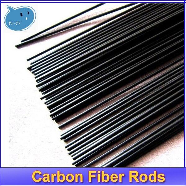 цена на 16pcs/lot New Carbon Fiber Rods for RC Plane DIY tool wing tube Quadcopter arm 1mm 1.5mm 2.0mm 3mm (500mm length) Wholesale