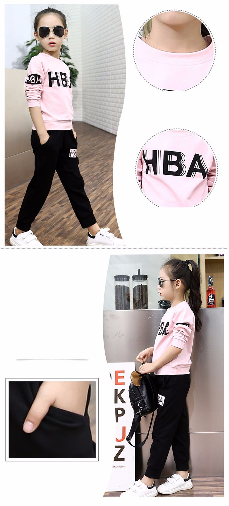little teenage girls clothes sports suits girls outfits tracksuit autumn spring letters tops t shirts black pants tracksuits girls sets 5 6 7 8 9 10 11 12 13 14 15 16 years old little big teenage girl children sport sets clothing set for girls (1)