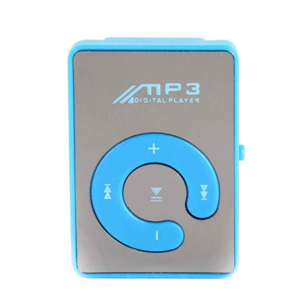 Mirror Clip USB MP3 Player Sport Support 8GB TF Card Portable Mini Music Media Player