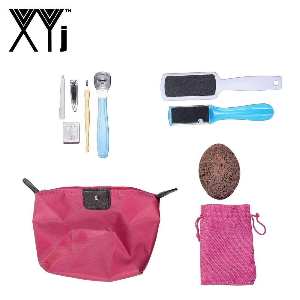 XYj ensemble d'outils de soin des pieds Kit pédicure fichier pédicure râpe callosités Kit de rasoir peau morte manucure ensemble ponce pour les pieds