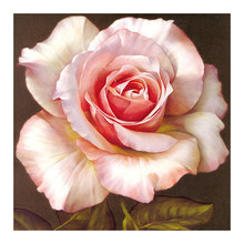 Pink floral Moge Diamond Painting Full Round Rose Peony New DIY Sticking Drill Cross Embroidery 5D simple Home Decoration