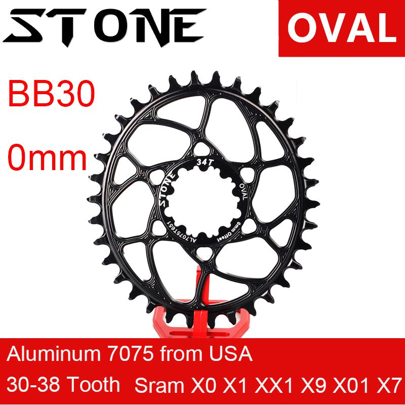 Stone Oval Chainring for Sram BB30 0mm 0 mm Offset XX1 Eagle X01 X7 X0 X9 S1400 30T 32 34 36 38 Bike Direct Mount Chainwheel