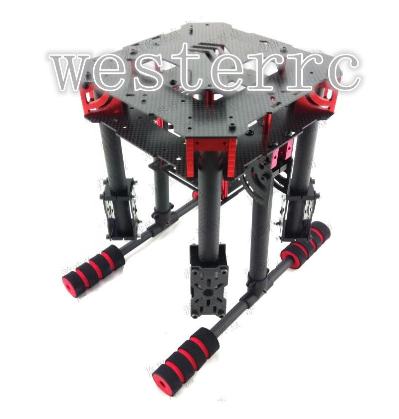 ФОТО WST NEW DIY FPV U-Pro quadcopter umbrella folding carbon fiber frame kit with landing gear RC drones 450/500/550/600mm Wheelbase