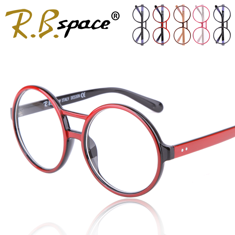 RBspace 2017 Round box computer radiation-resistant glasses male Women pc mirror anti fatigue frames plain glass picture frame
