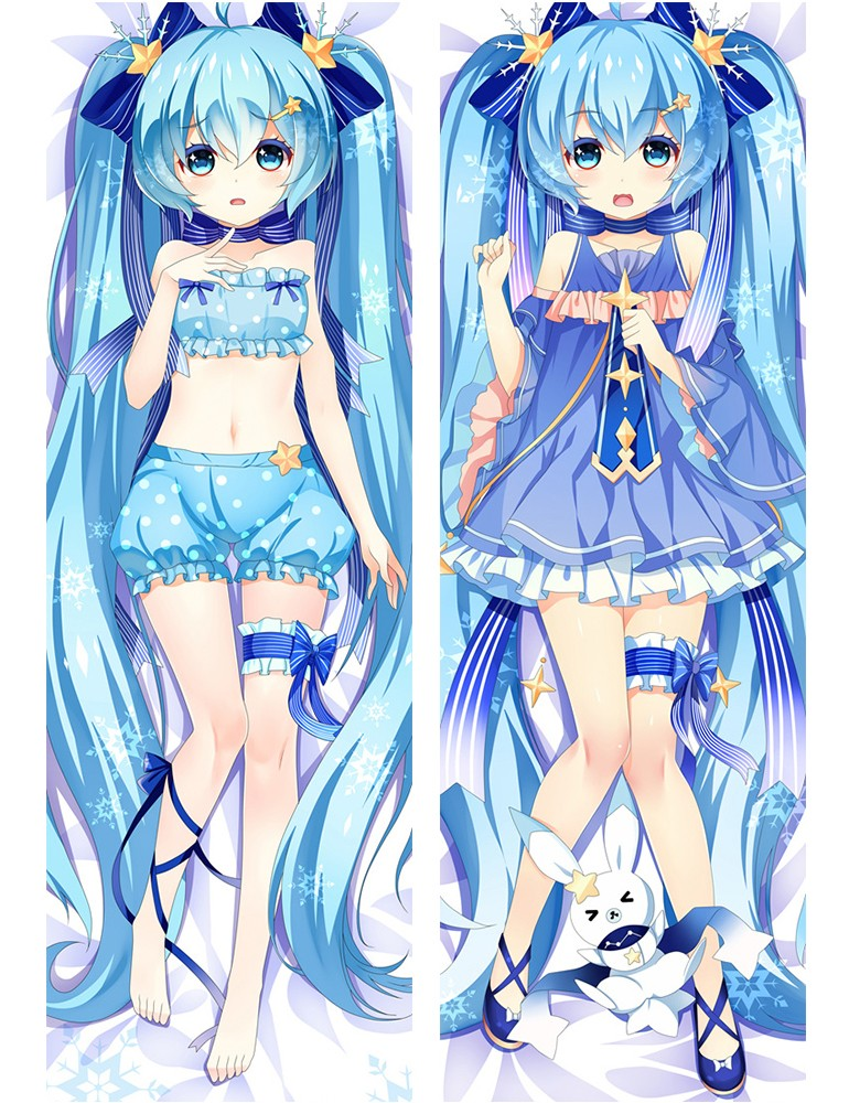 Japan Anime Vocaloid Snow Hatsune Miku Pillow Cases Cover Hugging Body Pillowcase 610052  (2)