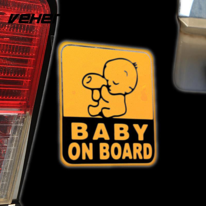 Vehemo 2 шт. Новый универсальный ребенок на борту автомобиля молоко Стикеры Водонепроницаемый окно для ноутбука Предупреждение знак Предупреж...