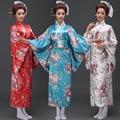 2016 Atacado Traje Do Estágio Mulher Quimono Japonês Samurai Retrato Feminino Floral Vestido Kimono Yukata Kimono Quimono Japonês