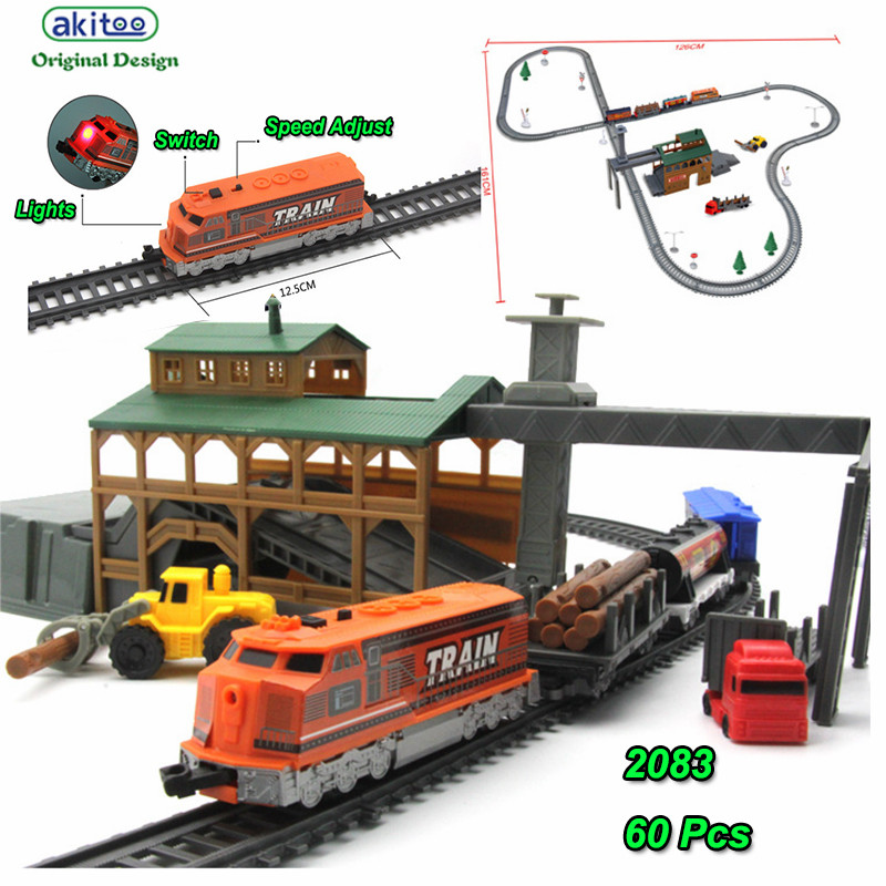 akitoo 1023 Electric light rail car package full length 450cm simulation project children s toy Sawmill