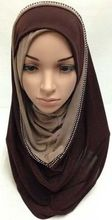New arrival arabian women muslim shawls and wraps islamic hijabs