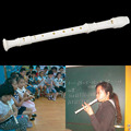 White Plastics Instrument 8 Holes Musical Soprano Recorder Flute Long New Hot!