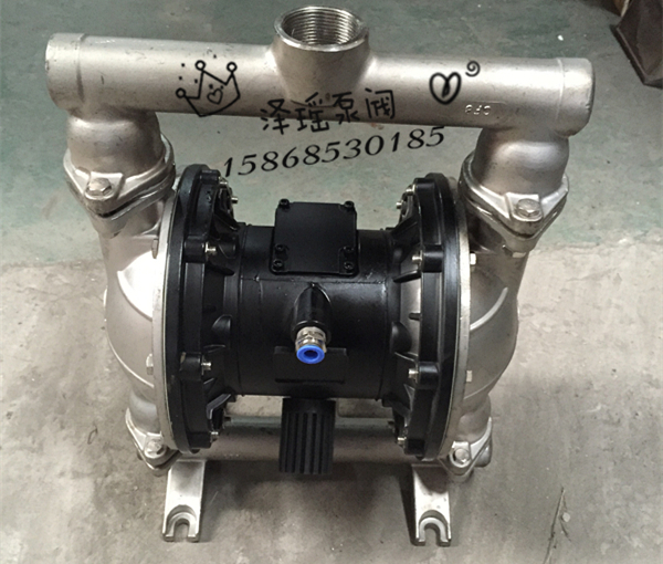 Pneumatic diaphragm pump stainless steel QBY-40 aluminum alloy cast iron industrial pneumatic diaphragm pump large flow 2017 china made qby 40 plastic diaphragm pump 1 2 with f46 diaphragm