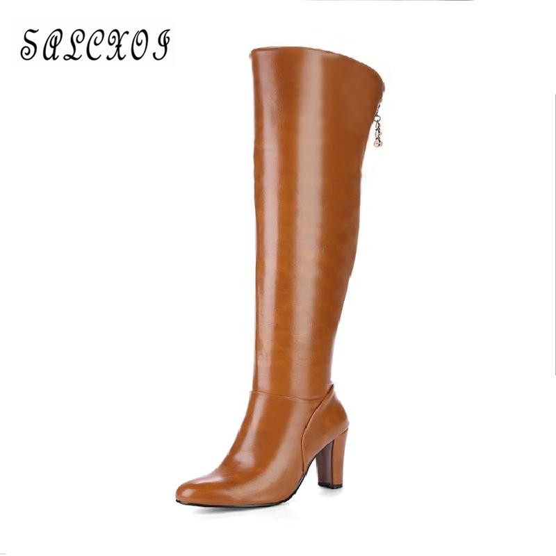 winter shoes women over the knee boots womens autumn boots fashion sexy high boots red wedding shoes woman free shipping &7595-2 yougolun ladies fashion thigh high over the knee boots woman autumn winter womens female sexy nubuck suede leather women shoes