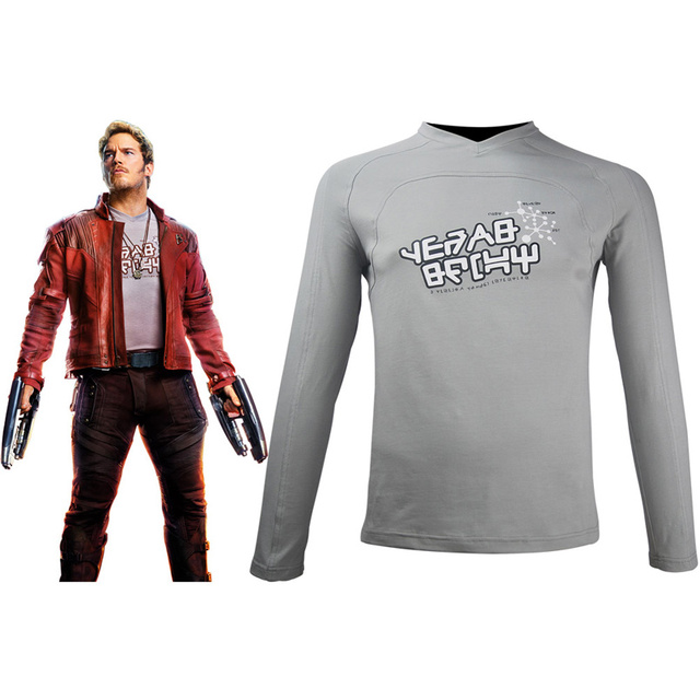 341c1f375 Kids Boys Guardians of the Galaxy Vol 2 Star-Lord Peter Quill Cosplay Shirt  Halloween Comic-con Costume Fans T-shirt