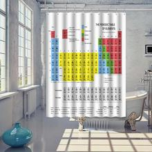 Фотография 70*70inch Periodic Table of Elements Chemistry Shower Curtain With Hooks 10.2